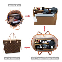 Load image into Gallery viewer, Best seller  purse organizer felt bag organizer purse organizer insert for lv speedy neverfull graceful neverfull tote handbag shaper large lighting coffee