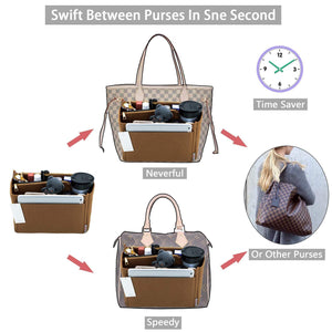 Best purse organizer felt bag organizer purse organizer insert for lv speedy neverfull graceful neverfull tote handbag shaper large lighting coffee