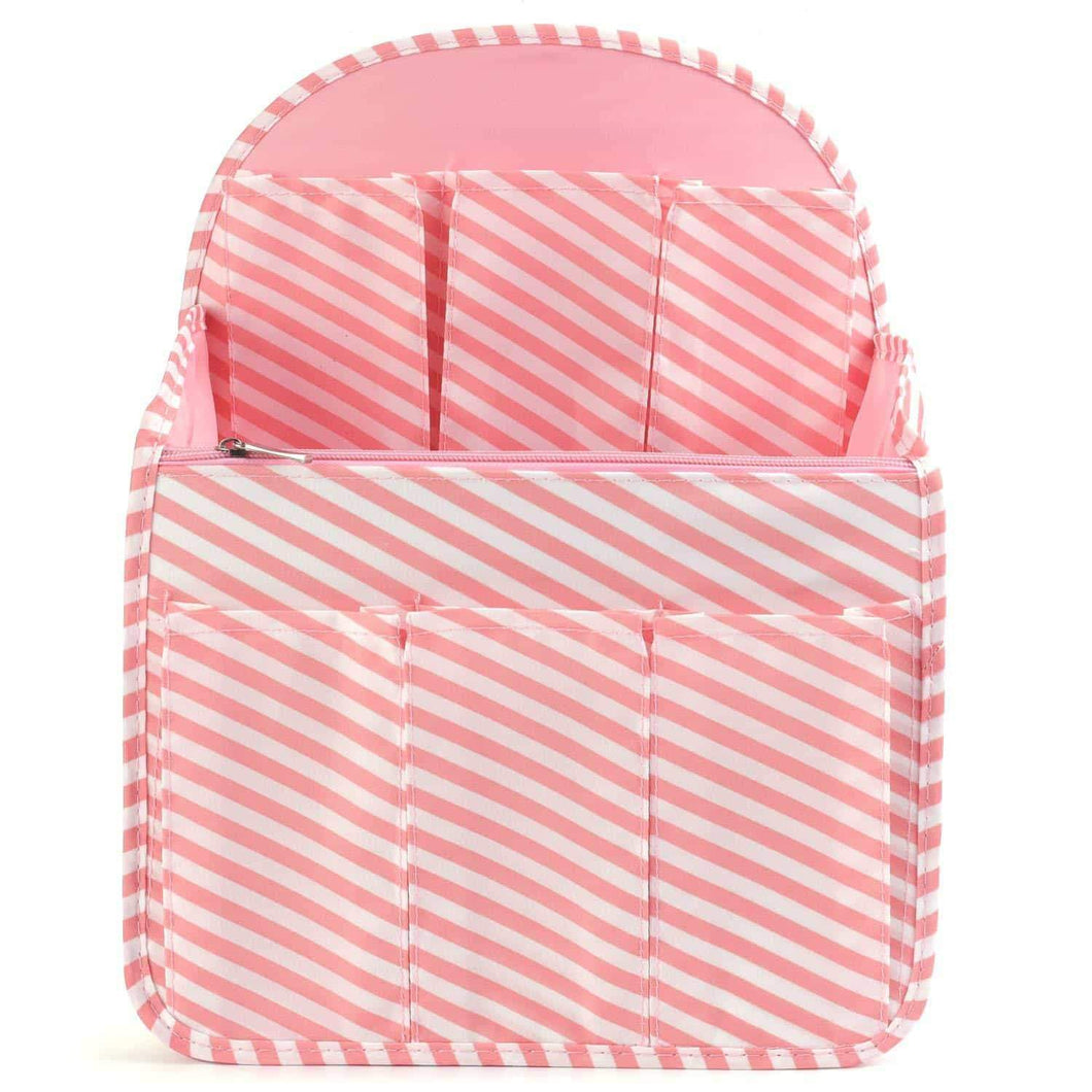 Best seller  xcharmer store backpack organizer insert travel purse multi pocket bag in bag organizer large backpack organizer large a pink stripe