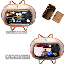 Load image into Gallery viewer, Budget purse organizer felt bag organizer purse organizer insert for lv speedy neverfull graceful neverfull tote handbag shaper large lighting coffee