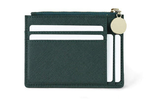 Discover serman brands slim wristlet card case holder small rfid blocking wallet change purse for women keychain removable wristlet strap velvet emerald ch