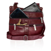 Load image into Gallery viewer, Genuine Leather Crossbody Mini Purse Organizer Travel Handcrafted Bag - WholesaleLeatherSupplier.com  - 2