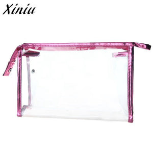 1PC New Fashion Women Clear Waterproof Makeup Storage Pounch PVC Transparen Cosmetic Bag A0711 drop shipping