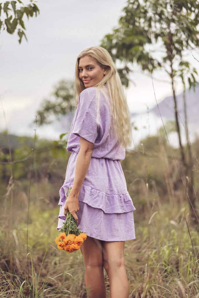 Forsoul The Label Rosetta Lavender Smock