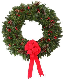 Fraser-pine - Blue Ridge Mountain Christmas Wreath