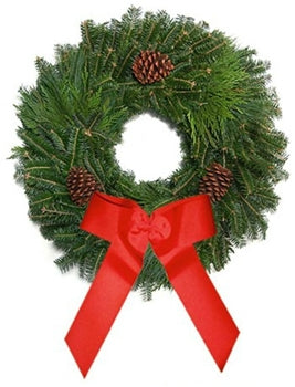 Mixed Fraser-Pine Christmas Wreath