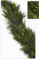 Mixed Boxwood/Pine - 25ft Christmas Garland