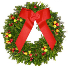 North Carolina Fraser - Apple Berry Delight Holiday Wreath