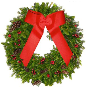 North Carolina Fraser - Blue Ridge Mountain Christmas Wreath