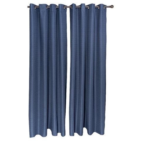 Set Cortina Blackout Térmico 140X220 Cm - Azul