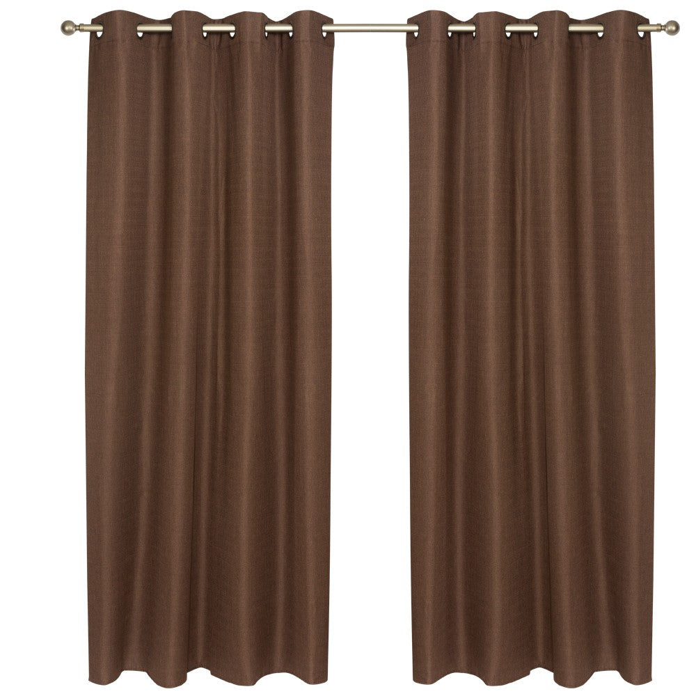 Set Cortina Blackout Térmico 140X220 Cm - Chocolate