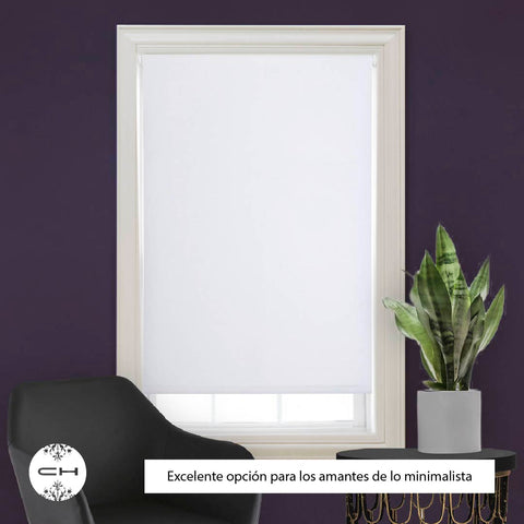 Cortina Roller Blackout 120 X 165 Cm Blanco