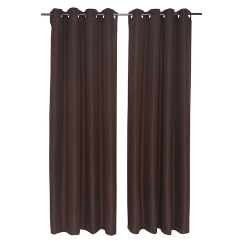 Set Cortina Corso Sun Out 140X220 Cm - Chocolate