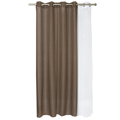 Set Cortinas Corcovado 140X220 Cm - Chocolate