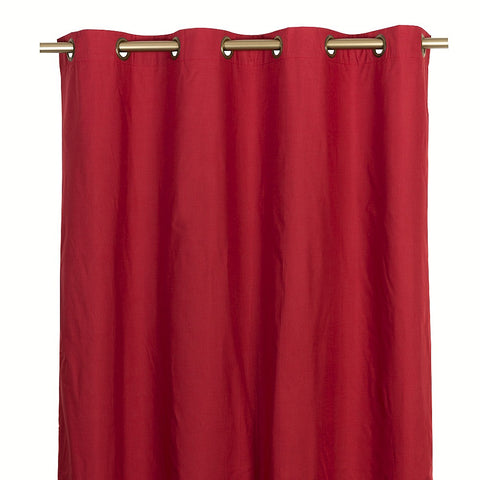 Cortina Blackout Con Argollas 140X220 Cm - Rojo