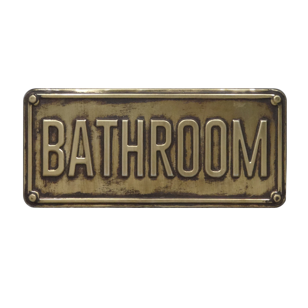 Cuadro Placa Metal Bathroom 5r