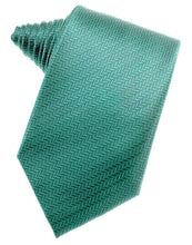 Load image into Gallery viewer, Aqua Herringbone Necktie