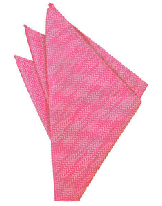 Bubblegum Herringbone Pocket Square