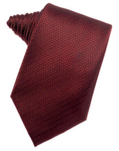 Load image into Gallery viewer, Claret Herringbone Necktie