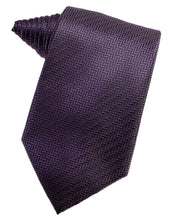 Load image into Gallery viewer, Plum Herringbone Necktie