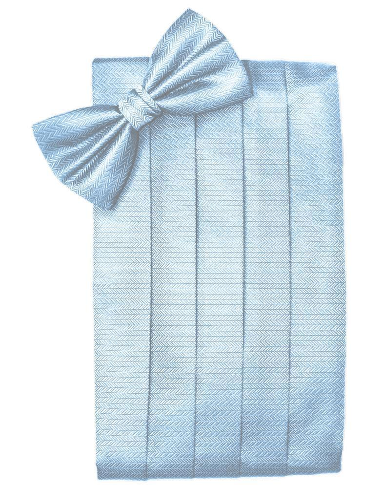 Powder Blue Herringbone Cummerbund