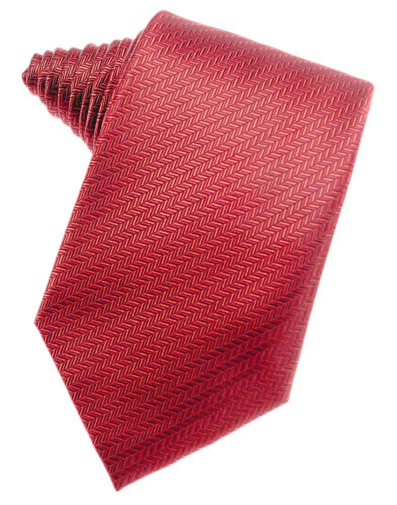 Watermelon Herringbone Necktie