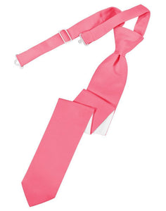 Bubblegum Luxury Satin Skinny Necktie
