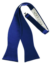 Load image into Gallery viewer, Royal Blue Luxury Satin Bow Tie