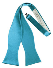 Load image into Gallery viewer, Turquoise Luxury Satin Bow Tie