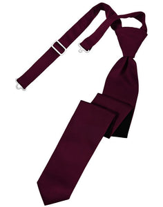 Wine Luxury Satin Skinny Necktie