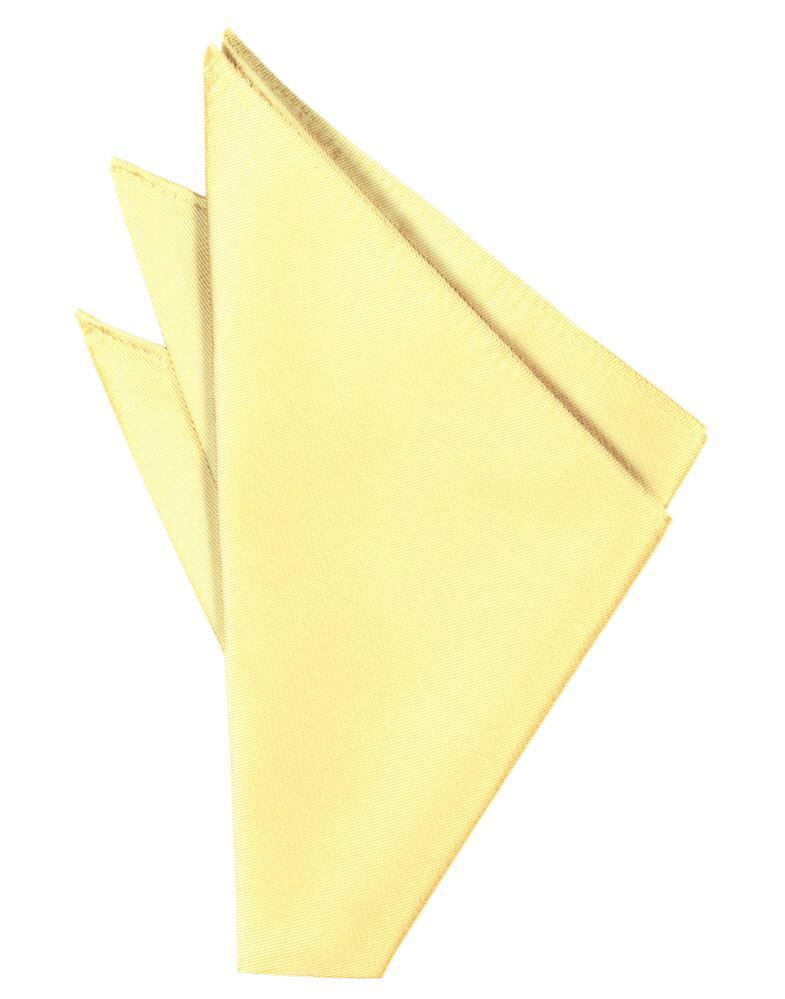 Buttercup Solid Twill Pocket Square