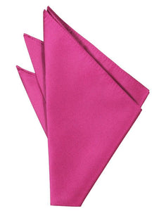 Fuchsia Solid Twill Pocket Square