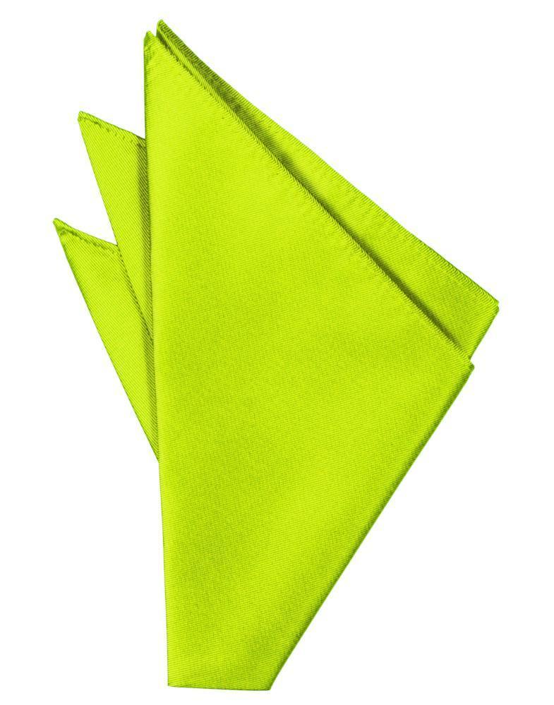 Lime Solid Twill Pocket Square