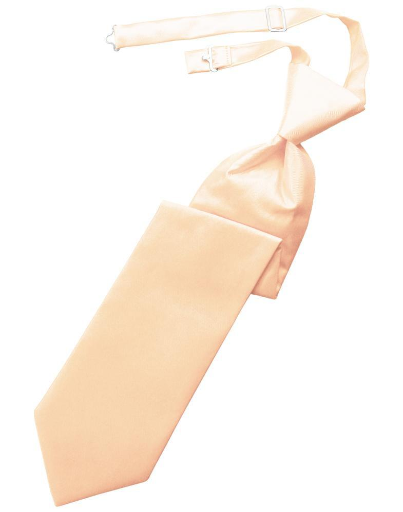 Peach Solid Twill Windsor Tie