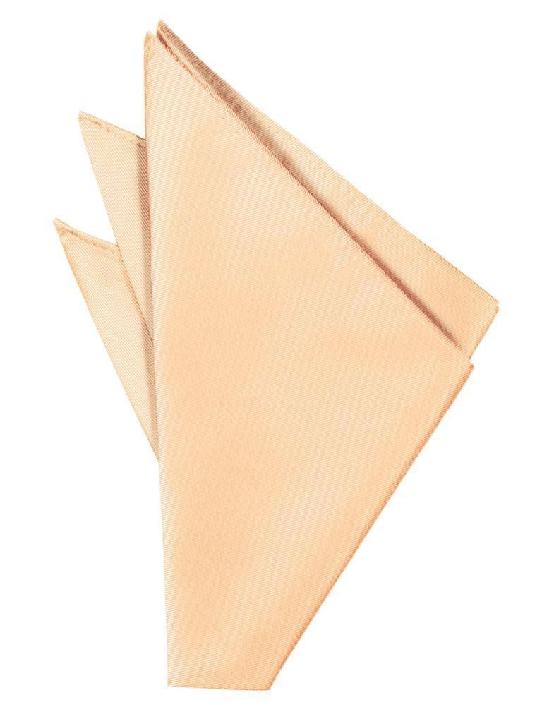 Peach Solid Twill Pocket Square