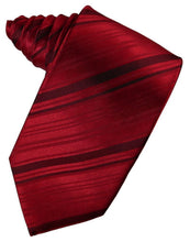 Load image into Gallery viewer, Apple Striped Satin Necktie