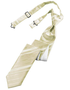 Bamboo Striped Satin Skinny Necktie