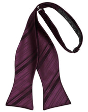 Load image into Gallery viewer, Berry Striped Satin Bow Tie