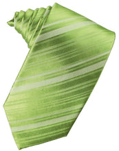 Load image into Gallery viewer, Clover Striped Satin Necktie