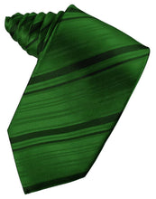 Load image into Gallery viewer, Hunter Striped Satin Necktie