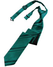 Load image into Gallery viewer, Jade Striped Satin Skinny Necktie