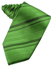Load image into Gallery viewer, Kelly Striped Satin Necktie
