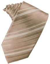 Load image into Gallery viewer, Latte Striped Satin Necktie