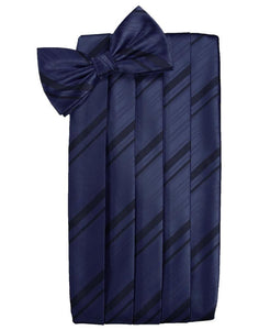 Marine Striped Satin Cummerbund