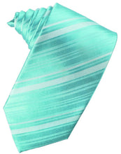 Load image into Gallery viewer, Mermaid Striped Satin Necktie