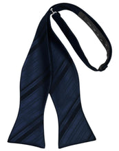 Load image into Gallery viewer, Midnight Striped Satin Bow Tie