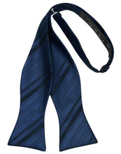 Load image into Gallery viewer, Peacock Striped Satin Bow Tie