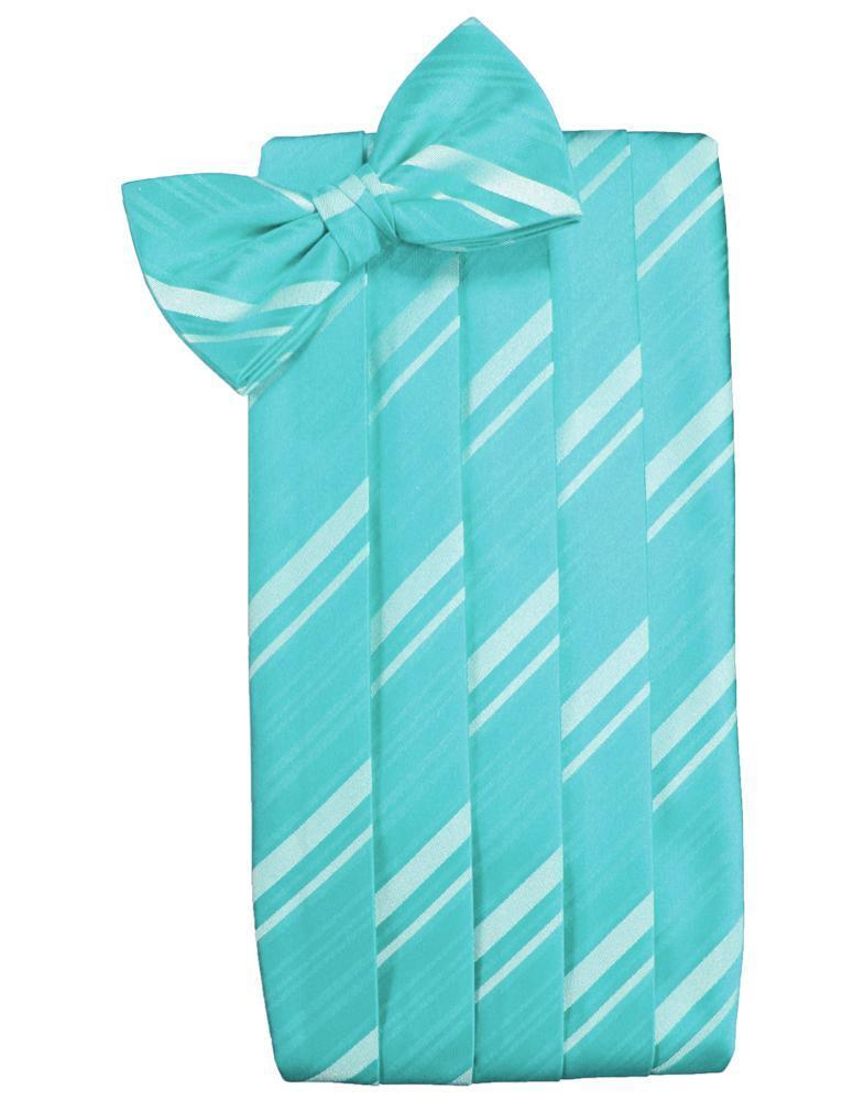 Pool Striped Satin Cummerbund