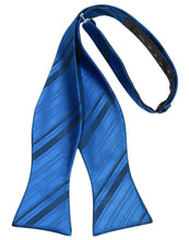 Load image into Gallery viewer, Royal Blue Striped Satin Bow Tie