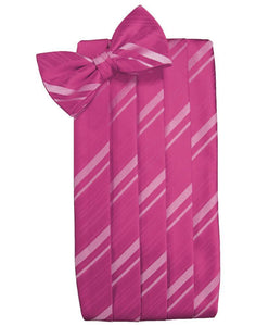 Watermelon Striped Satin Cummerbund